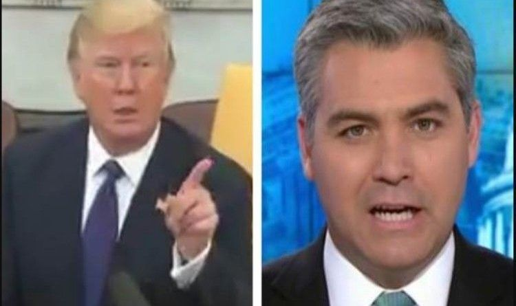 President Trump Throws Jim Acosta Out Of The Oval Office ...
