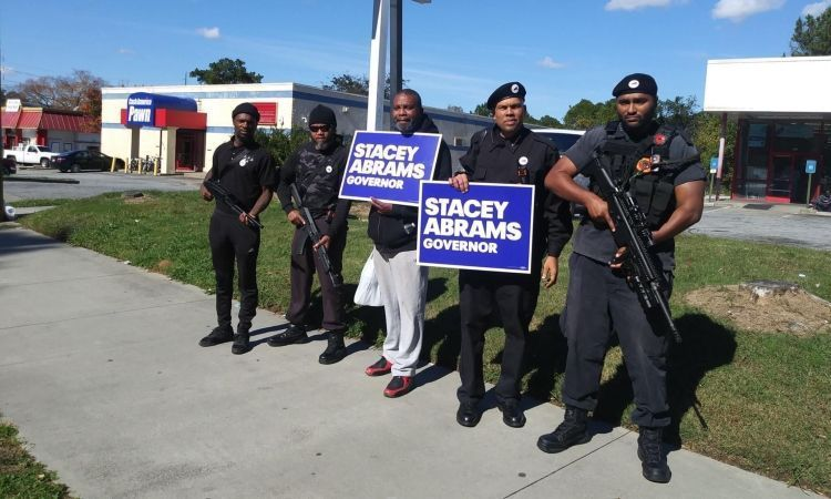 ARMED WITH ASSAULT RIFLES, BLACK PANTHERS MARCH FOR STACEY ABRAMS (VIDEO)