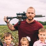 Dad and his children pose for family photo carrying guns: 'Hey Gillette, does this offend you?'