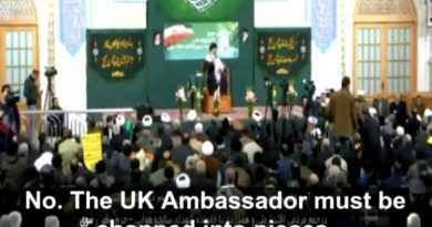 """Video: The Regime In Iran Says """"The UK Ambassador Must Be Chopped Into Pieces!"""""""