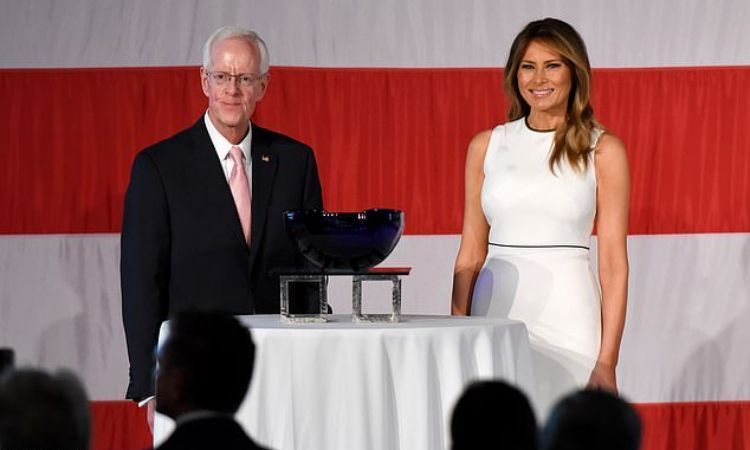 Image result for melania trump  Women of Distinction award luncheon at The Breakers Hotel