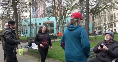 Video: Mother Of Deceased Antifa Militant Fights Trump Supporter During A Small Protest Against Antifa