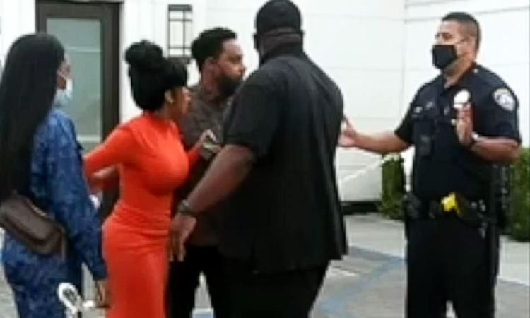 Video: Hysterical Biden Surrogate, Cardi B Screams At Cops To Release Her 'Unarmed' Husband After He Was Cuffed For 'Waving Guns At People' While Driving Through A Trump Rally