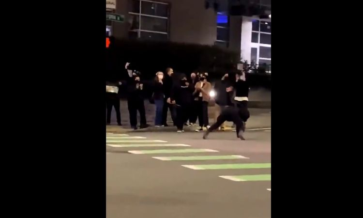 BLM Rioter In Seattle Twerks At Cops During Last Night's Riots – Received Instant Karma