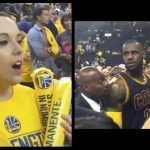 """Video: LeBron's Reaction After Woman Says, """"How does it feel to be a p*ssy a** b*tch"""" Straight To His Face"""