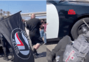 Anti-Israel ANTIFA MOB Swarms Police Car, Doesn't Go Well For Them (Video)