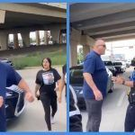 """Video: """"Giant"""" American Patriot Confronts BLM For Blocking The Road, Then Confronts The Police For Doing Nothing When They Pulled A Gun On Him"""
