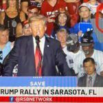 """Photos From The Latest Trump Rally In Sarasota Reveal """"The Official Anti-FBI Gear For Conservatives"""""""